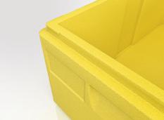 contenedor isotérmico amarillo