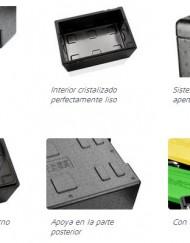 contenedor isotérmico para transporte de alimentos modelo cristal fotos de detalle