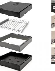Contenedor isotérmico para tartas extensible