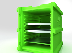 Thermobox torre 60x40 pastelería panadería contenedor isotérmico